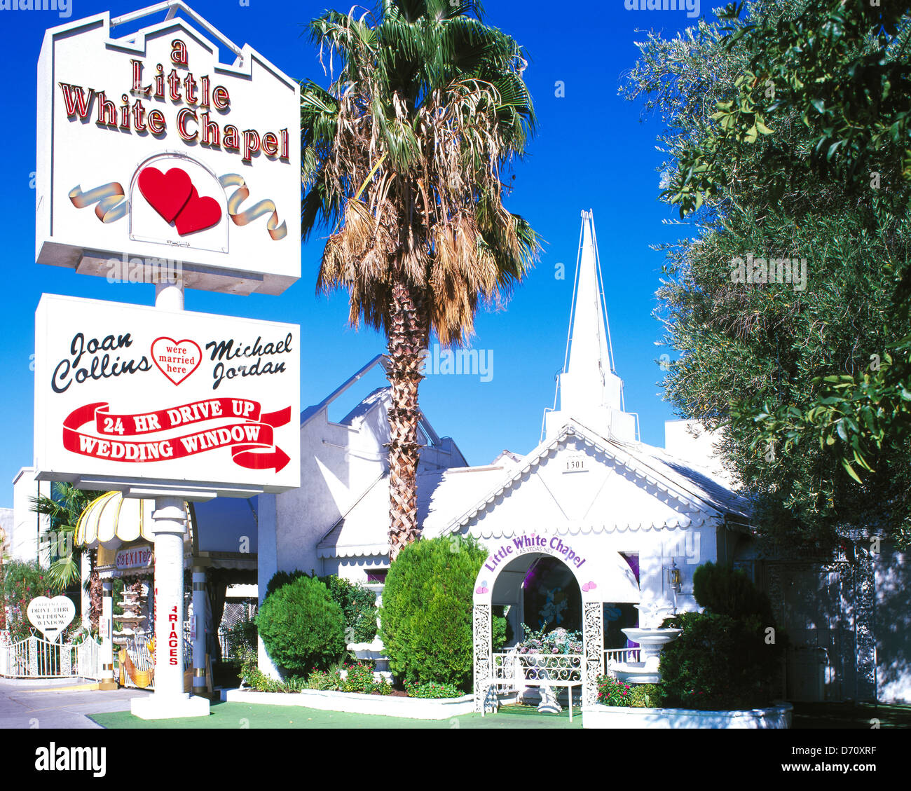Little White Wedding Chapel Stock Photos & Little White