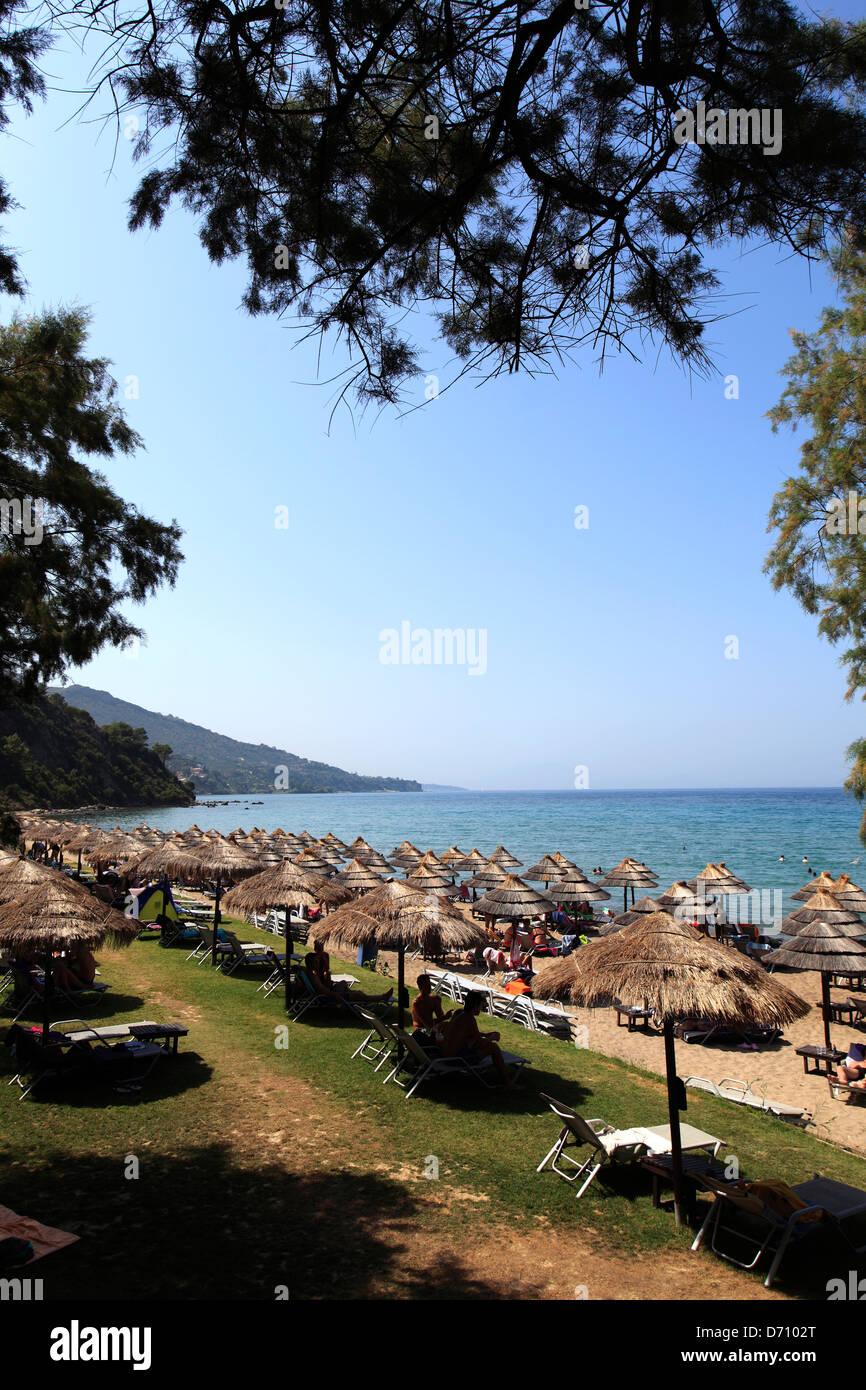 View of Porto Zoro beach and resort, South Zakynthos Island, Zante, Greece, Europe. - Stock Image