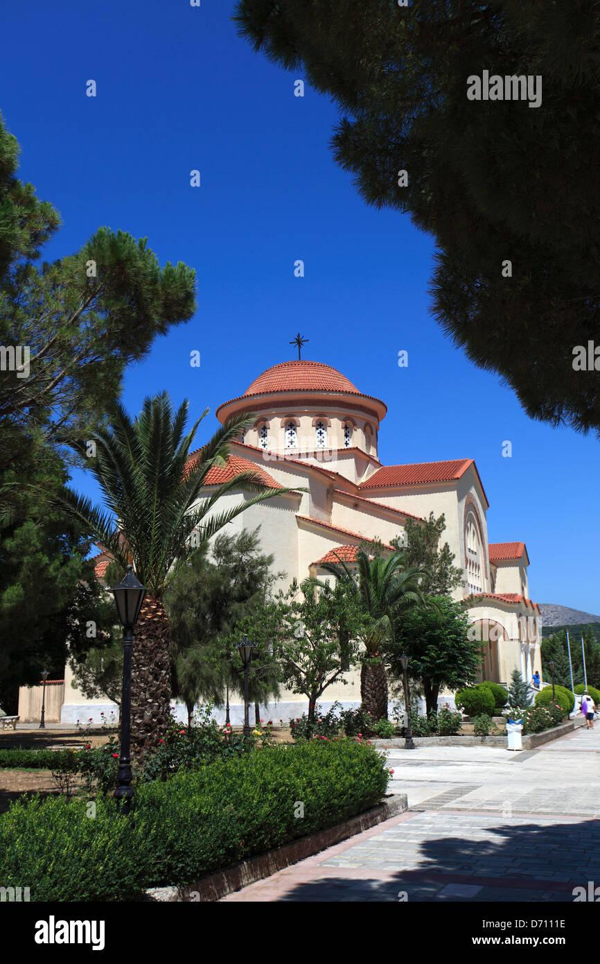 The Monastery of Saint Gerassimos, Island of Kefalonia, Greece, Europe - Stock Image