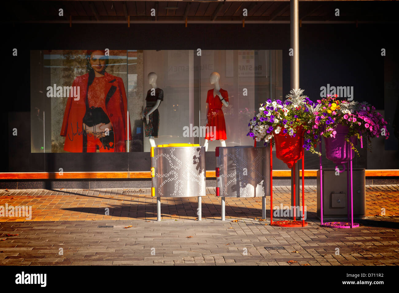 Shop Window Display and Floral Display - a shop window - Stock Image