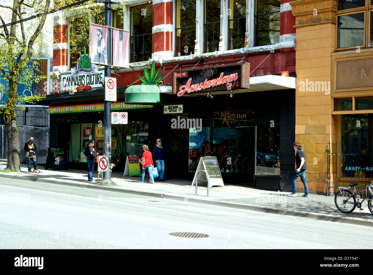 Marc Emery Cannabis Culture New Amsterdam Cafe Hastings Street downtown Vancouver pot shops - Stock Image
