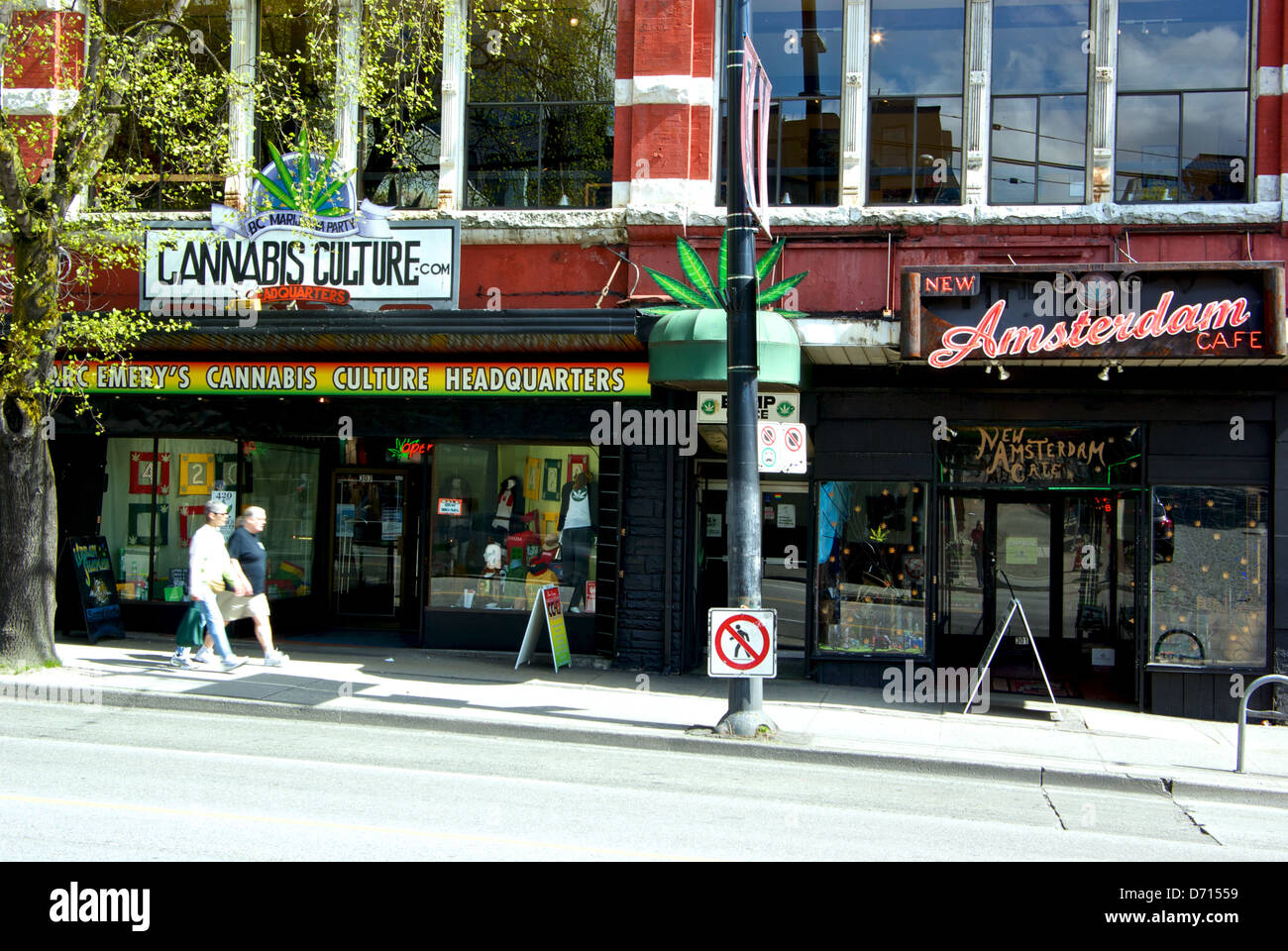 Marc Emery Cannabis Culture New Amsterdam Cafe BC Marijuana Party Hastings Street downtown Vancouver pot shops - Stock Image