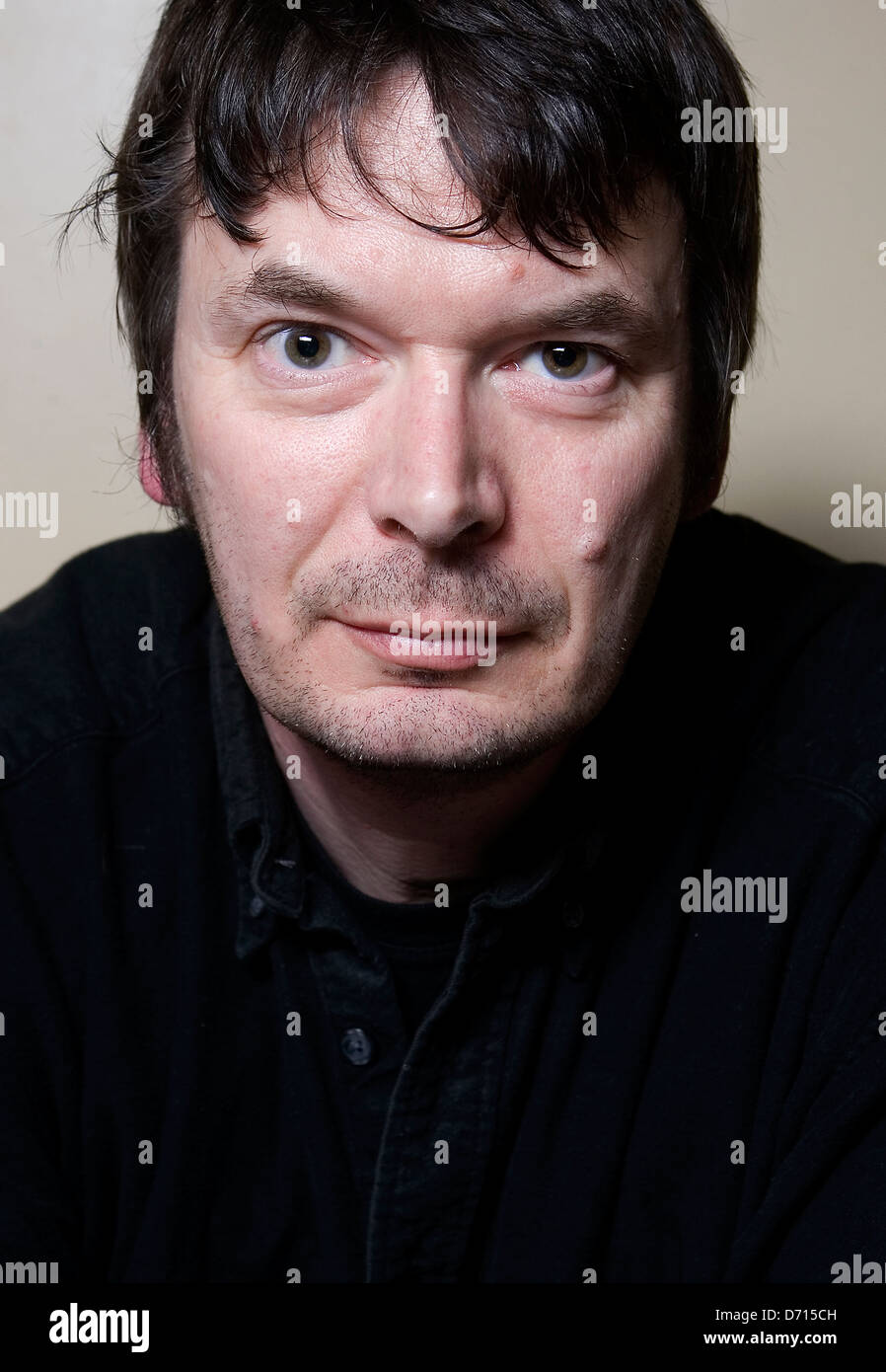 Scottish author Ian Rankin, at The Oxford Bar, Edinburgh, favoured by his fictional character Detective Inspector - Stock Image