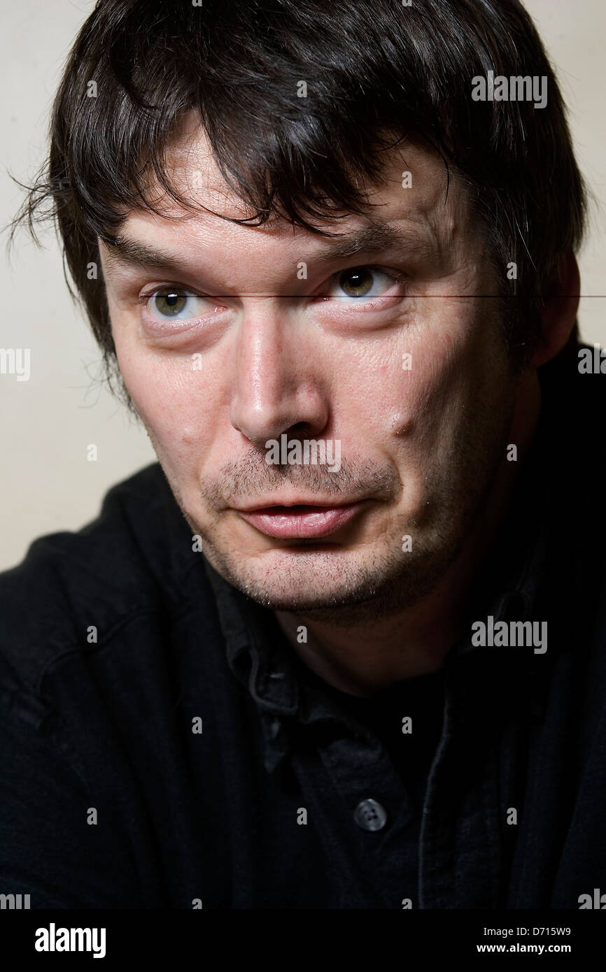 Scottish author Ian Rankin, at The Oxford Bar, Edinburgh, favoured by his fictional character Detective Inspector Stock Photo