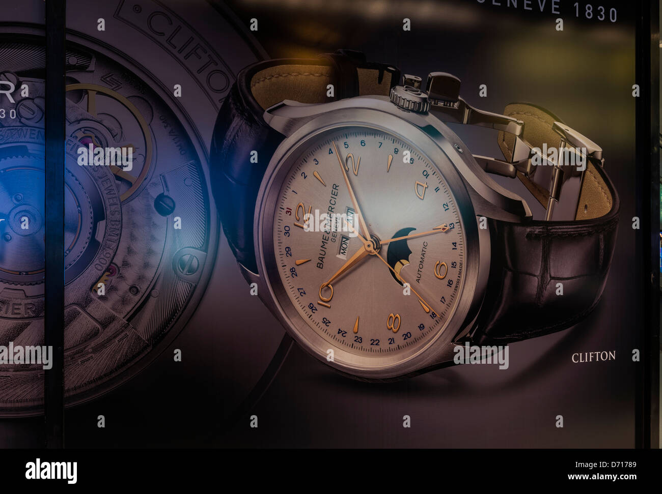 Watch, BAUME & MERCIER - Stock Image