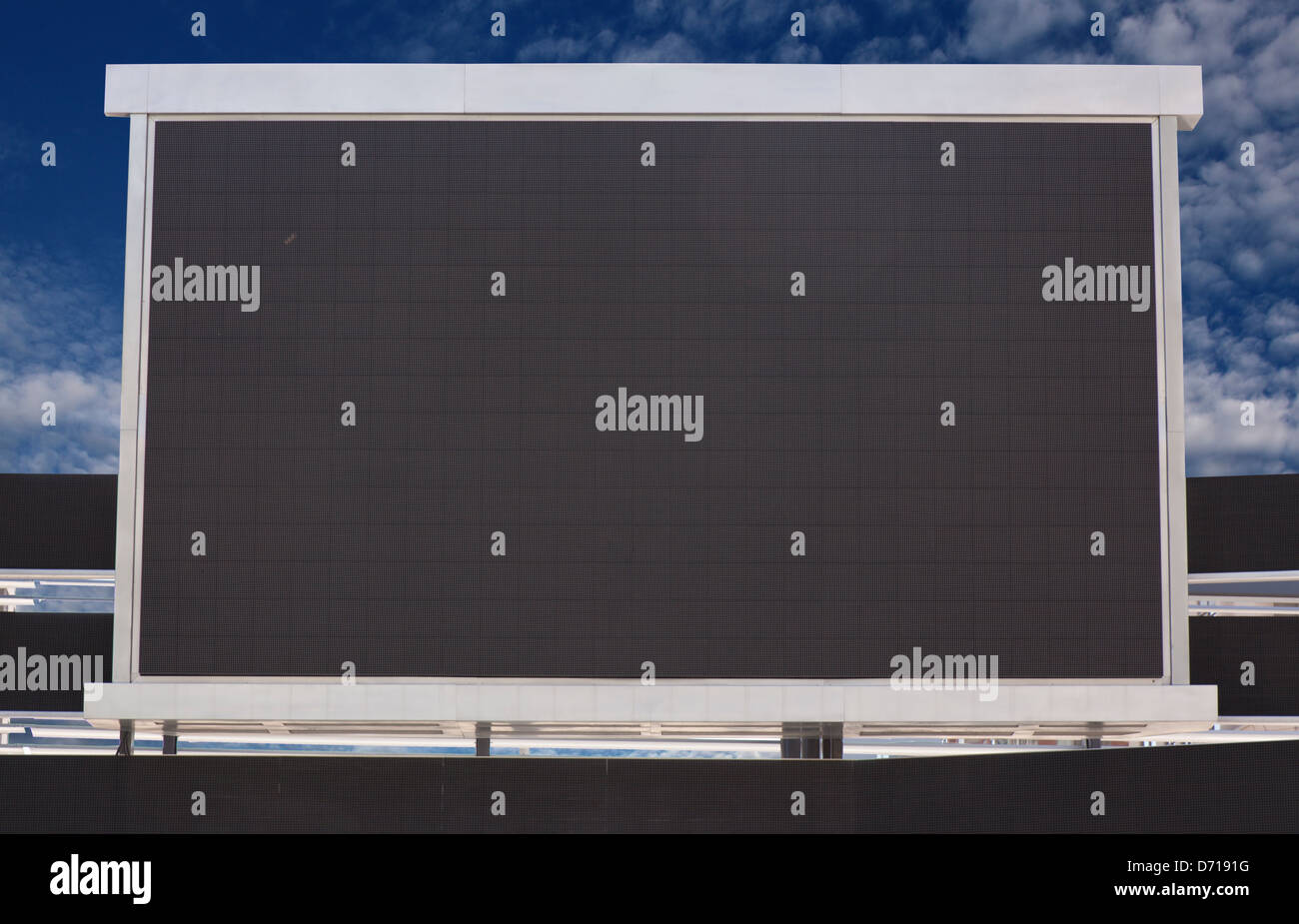 outdoor television screen monitor - Stock Image