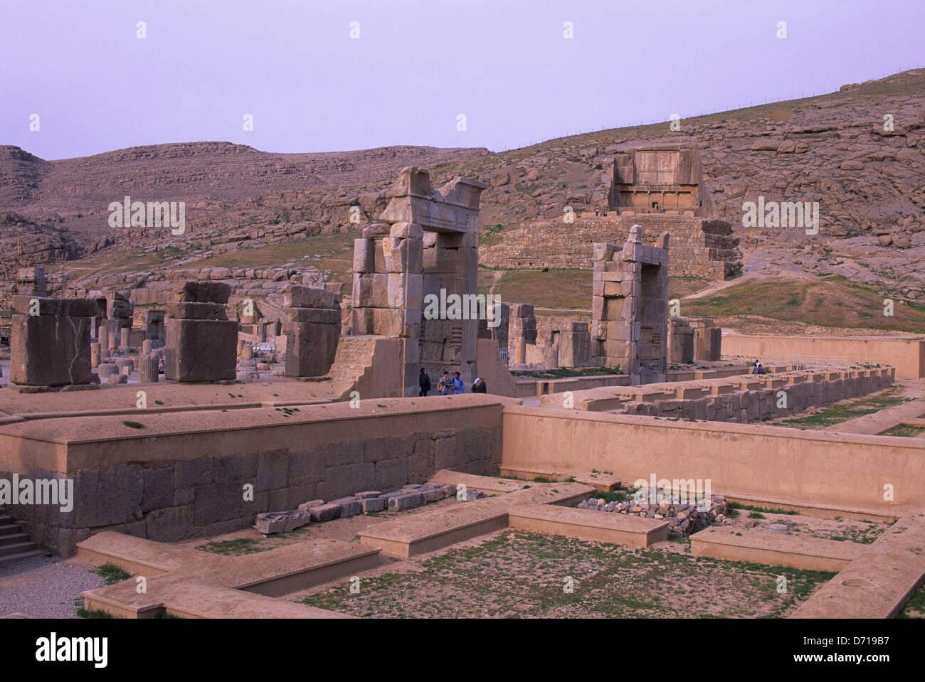 Iran Near Shiraz Persepolis Remains Of Treasury Stock Photo Alamy
