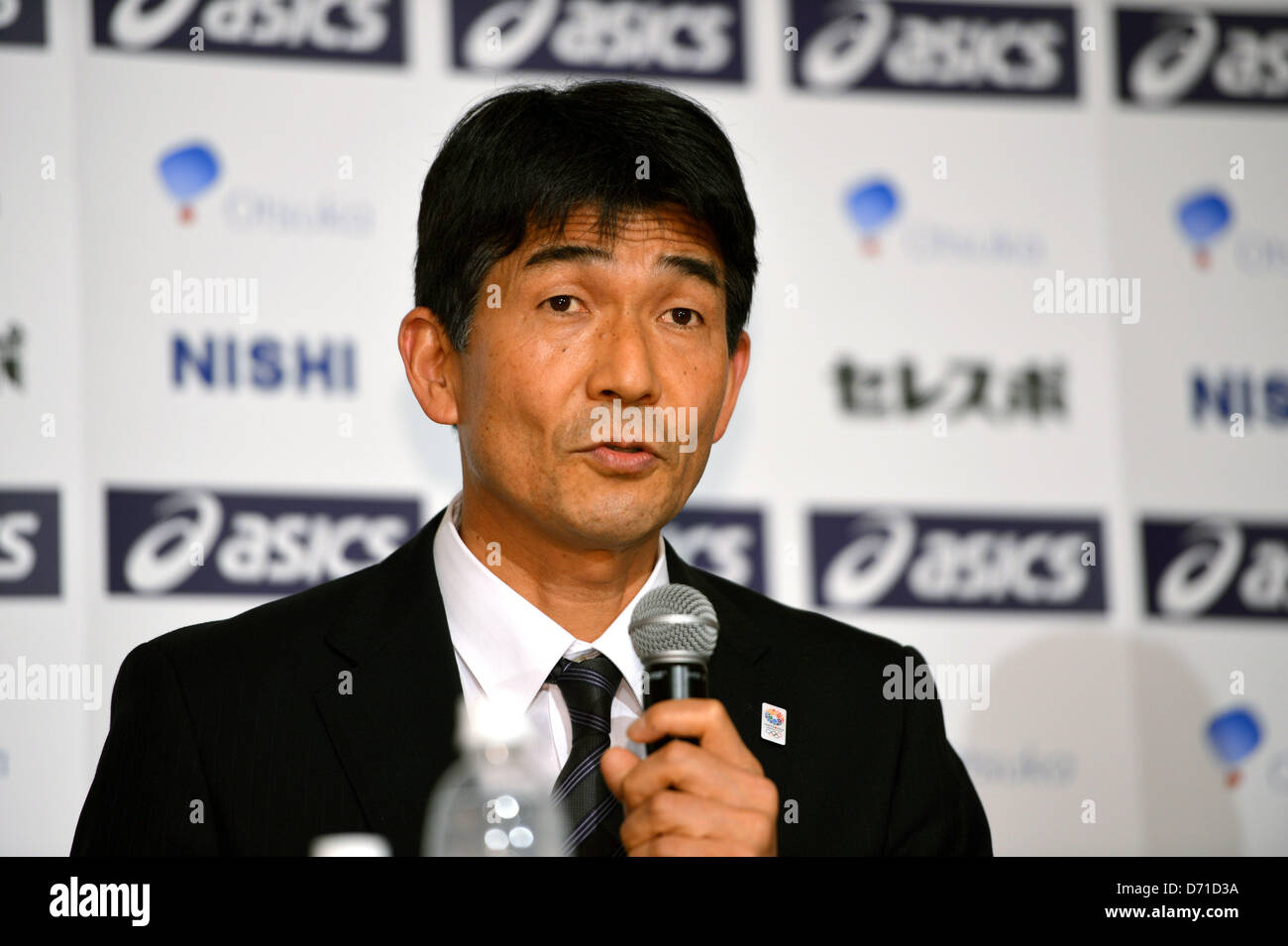 Mitsugi Ogata,  APRIL 25, 2013 - Athletics : Japan Association of Athletics Federations' press conference to - Stock Image