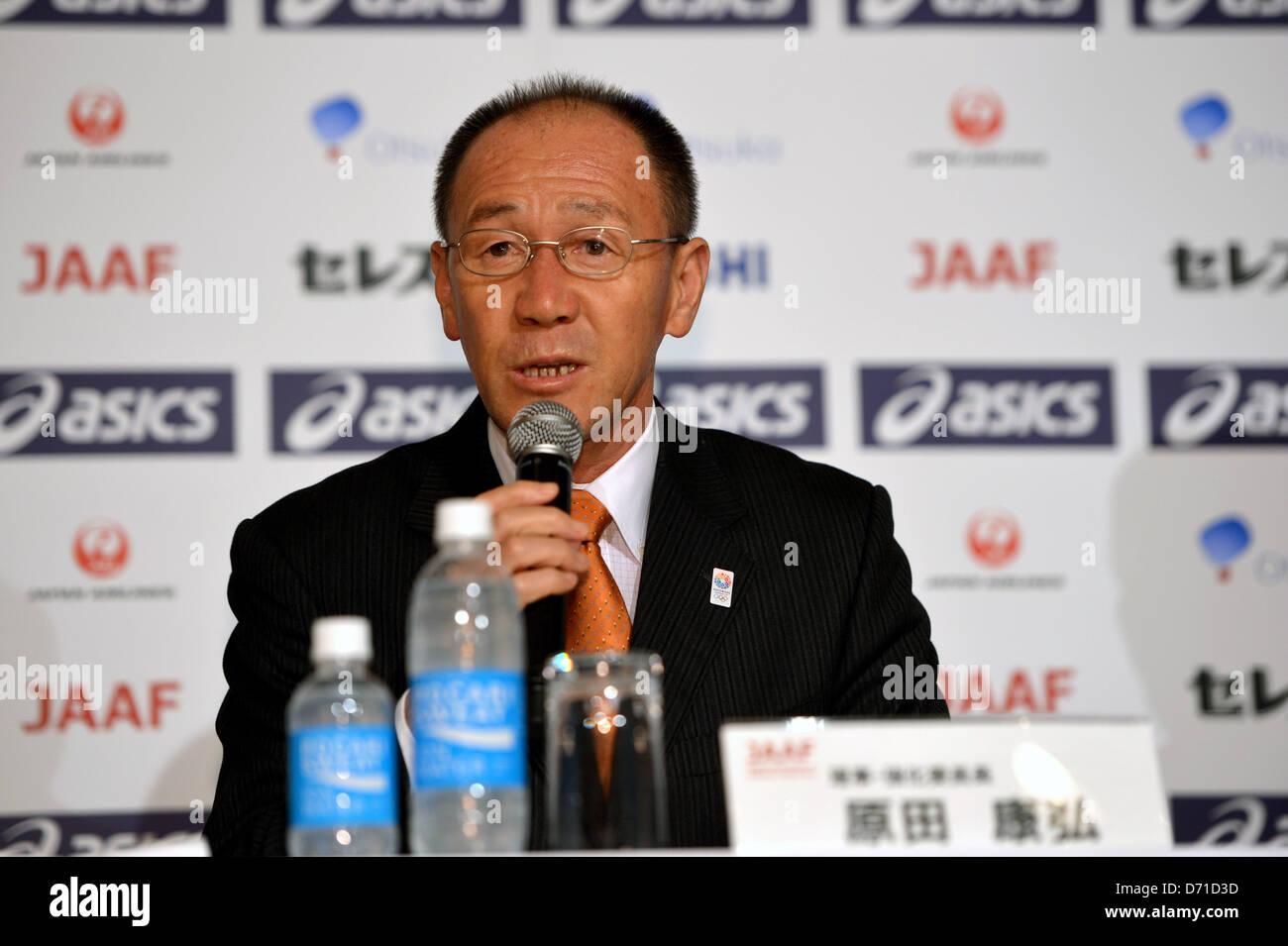 Yasuhiro Harada, APRIL 25, 2013 - Athletics : Japan Association of Athletics Federations' press conference to - Stock Image