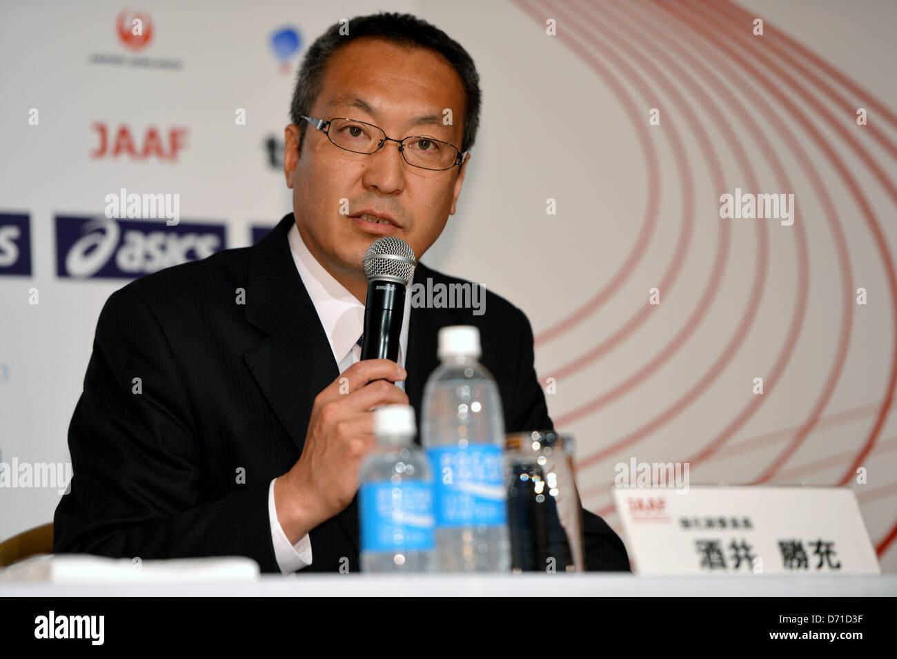 Katsumi Sakai, APRIL 25, 2013 - Athletics : Japan Association of Athletics Federations' press conference to - Stock Image