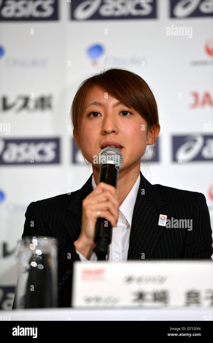 Ryoko Kizaki (JPN), APRIL 25, 2013 - Athletics : Japan Association of Athletics Federations' press conference - Stock Image