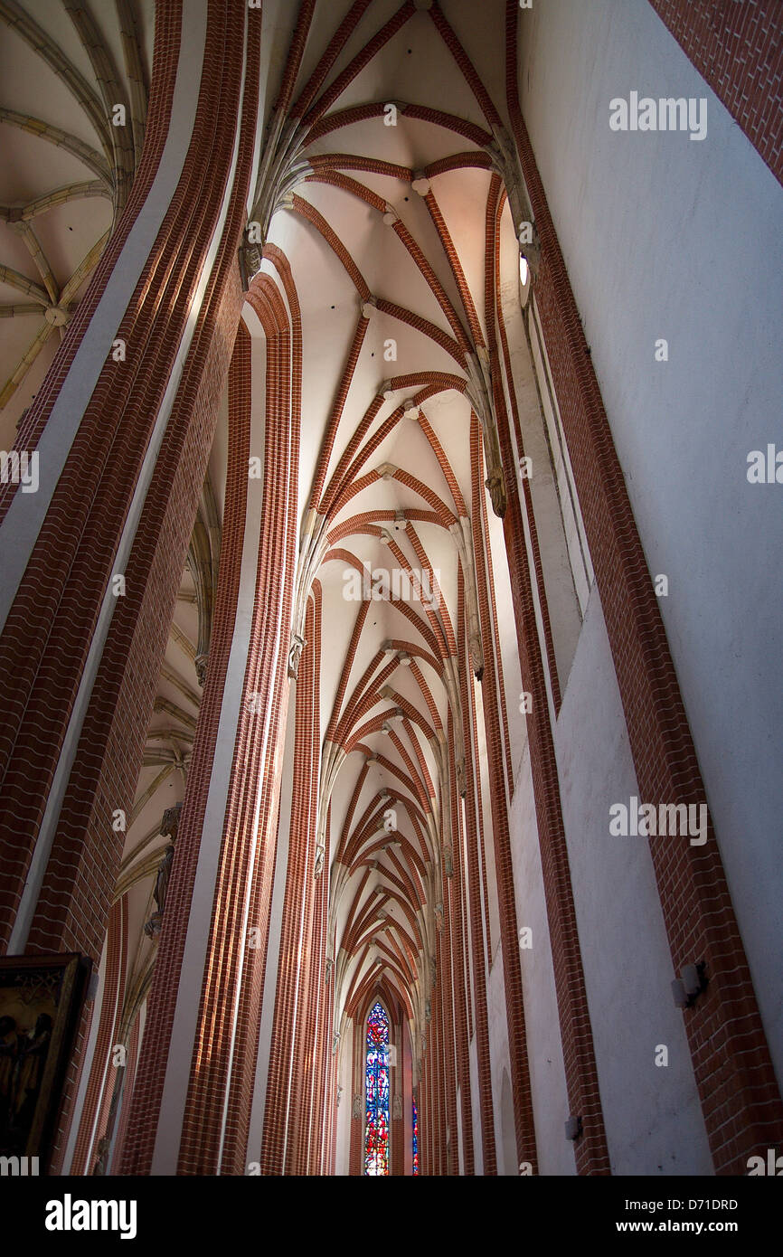 Vaulted ceilings in the Gothic church Stock Photo