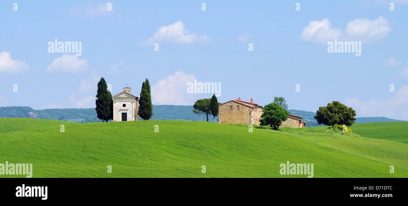Toskana Kapelle - Tuscany chapel 10 - Stock Image