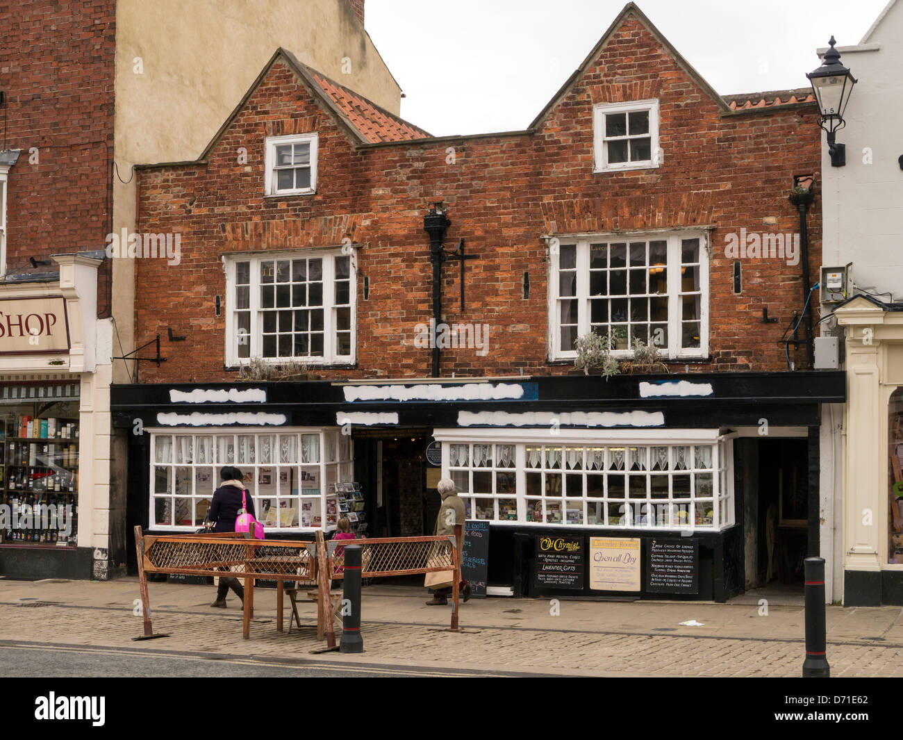 The Old Chemist Shop in England in Knaresborough, North Yorkshire Stock Photo
