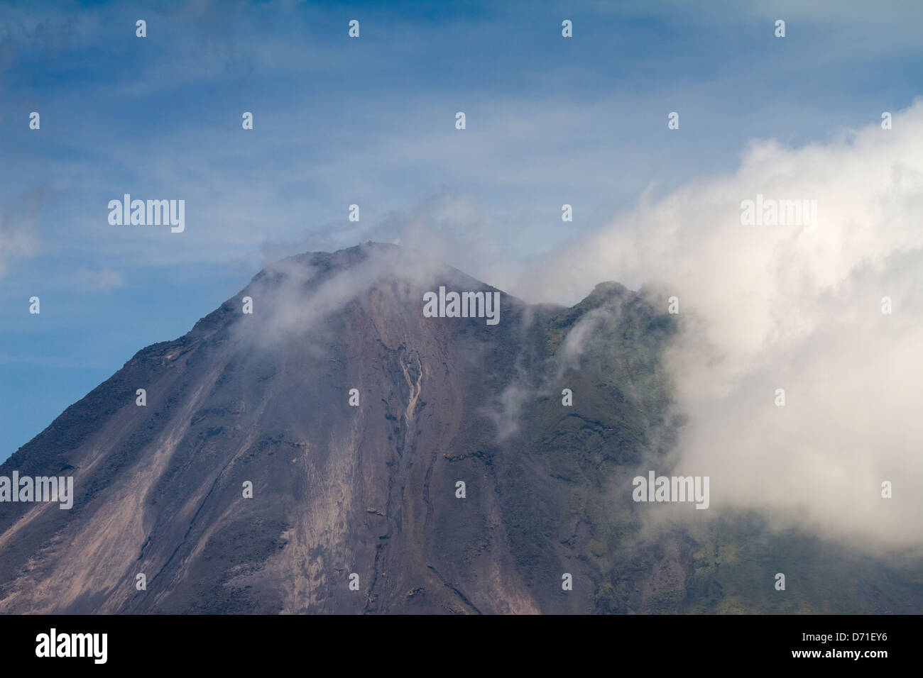 The summit of Arenal Volcano, Arenal Volcano National Park, Costa Rica - Stock Image