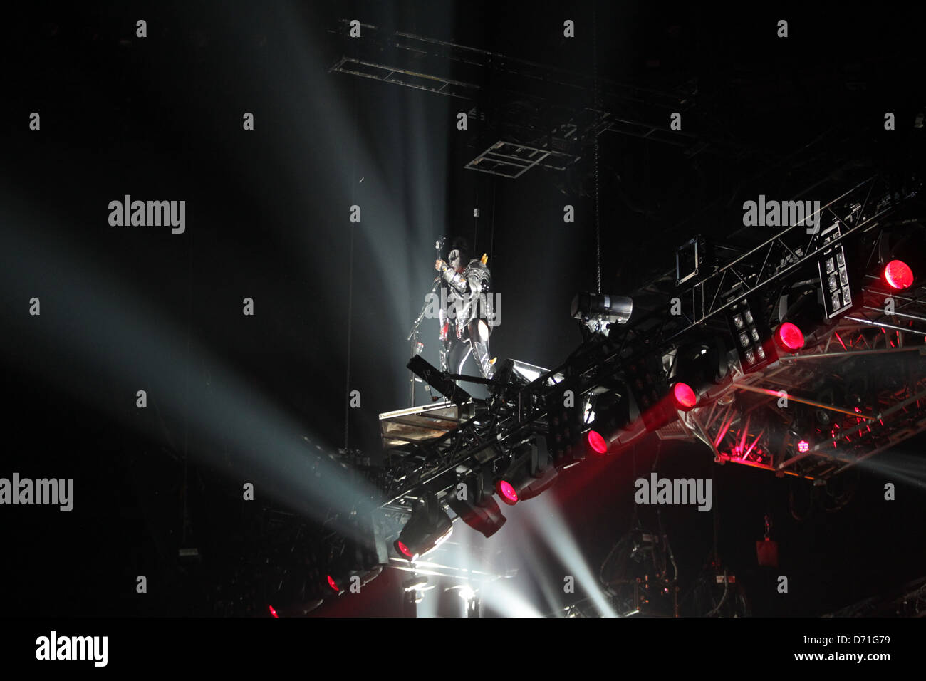 KISS live in Sydney,  Gene Simmons - Stock Image