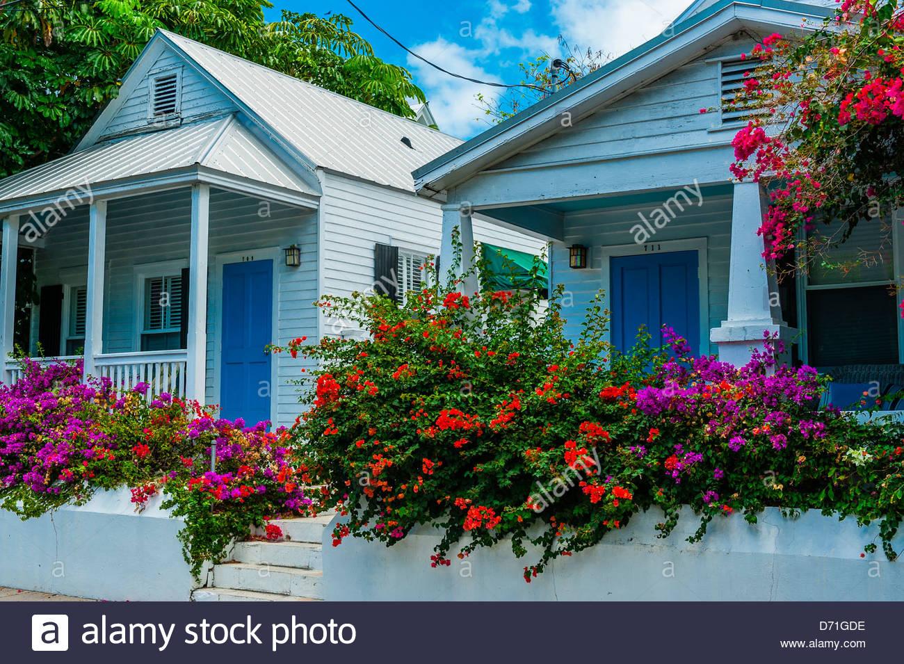 Houses, Key West, Florida Keys, Florida USA - Stock Image