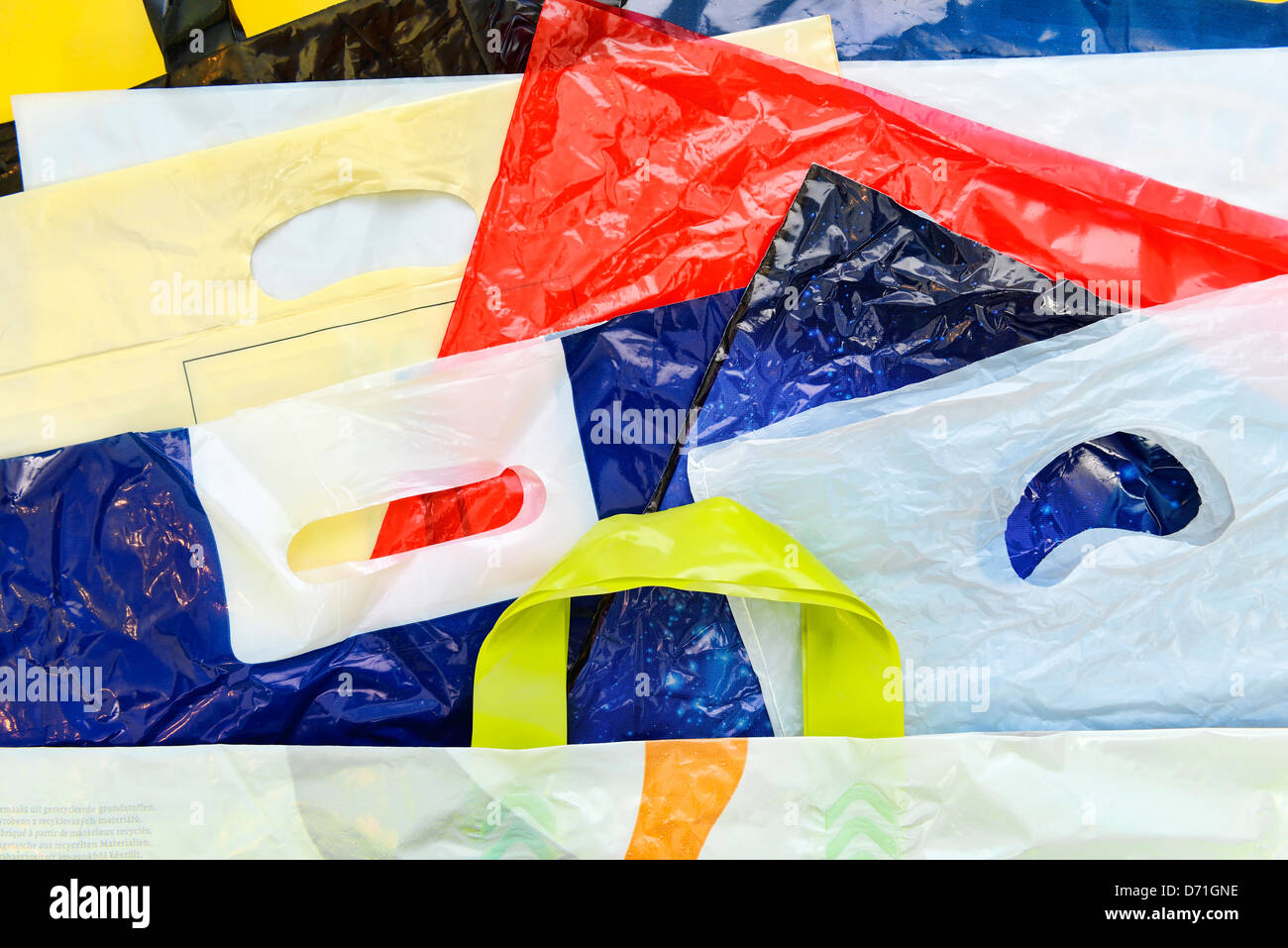 Shopping bags, plastic bags - Stock Image