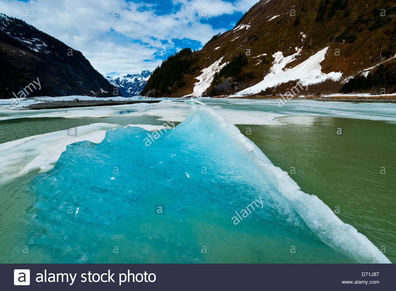 Shakes Slough, a tributary of the Stikine RIver, Stikine LeConte Wilderness, Southeast Alaska USA - Stock Image