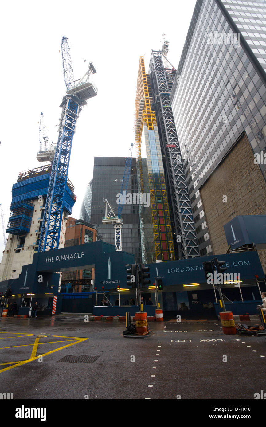 Building site of the pinnacle skyscraper, Bishopsgate, london - Stock Image