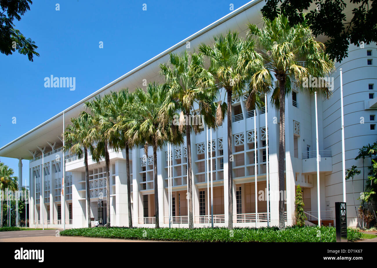 Australia, Northern Territory, Darwin, view of the Post modern Northern Territory Parliament House - Stock Image