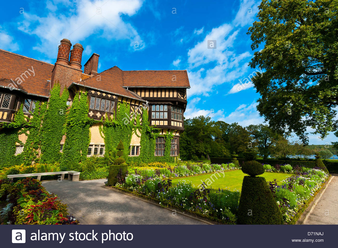 Cecilienhof Palace (site of the Potsdam conference between Truman, Churchill and Stalin from 16 July to 2 August - Stock Image