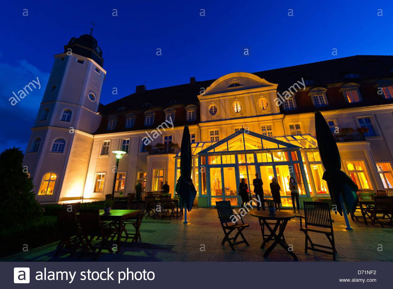 Radisson Blu Resort Schloss Fleesensee (castle hotel), Fleesensee, Germany - Stock Image