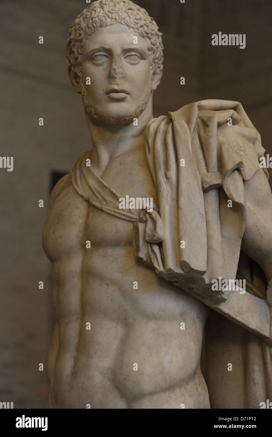 Greek art. Diomedes. Roman sculpture after original of about 430 BC. Glyptothek. Munich. Germany. Stock Photo
