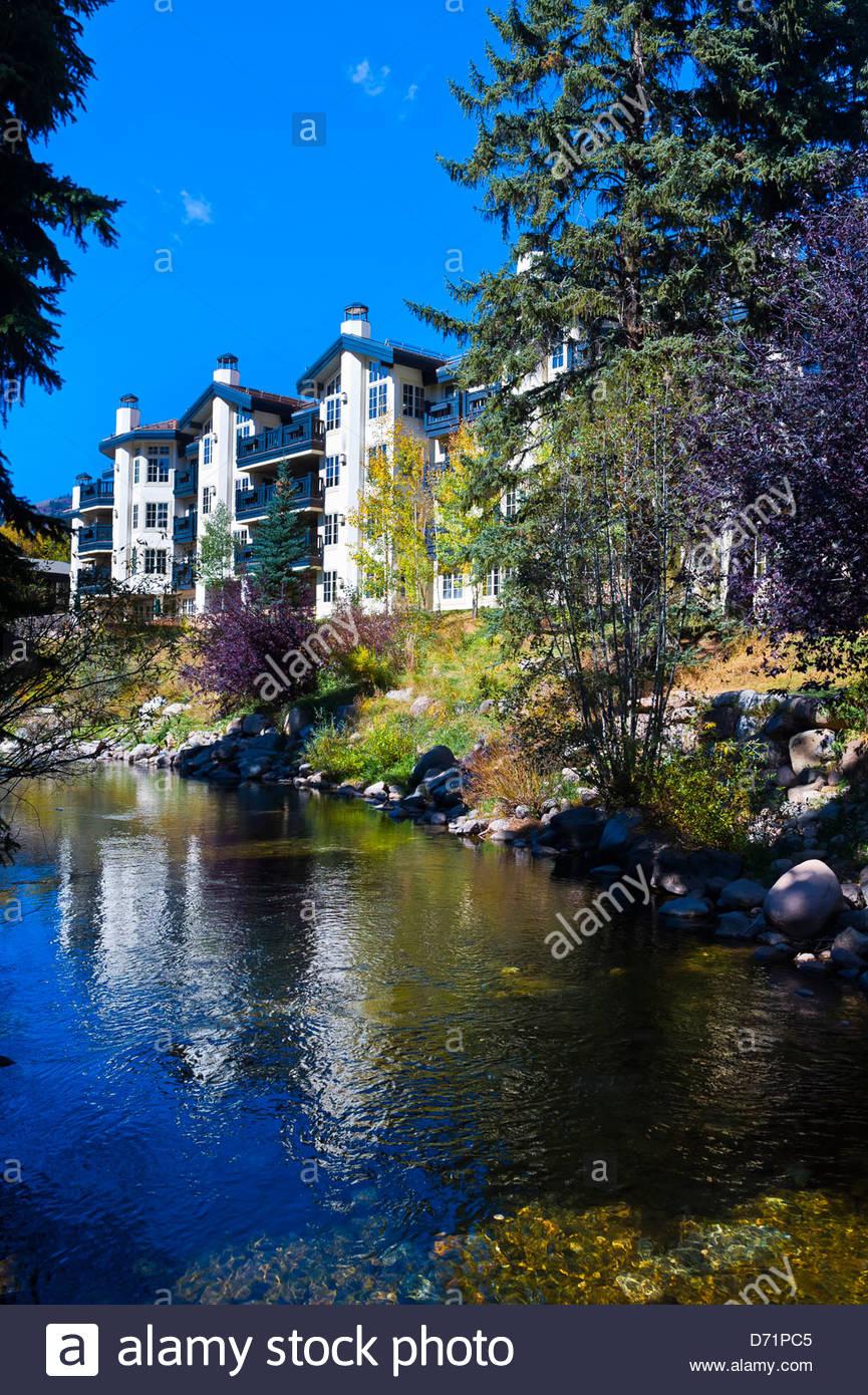 Vail Village Colorado USA - Stock Image