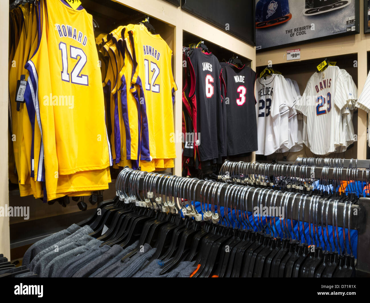 buy online 9c359 57f52 NBA Jerseys, Modell's Sporting Goods Store Interior, NYC ...