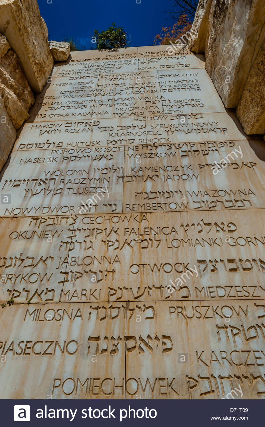The Valley of Communities, Yad Vashem, the Holocaust Martyrs' and Heroes' Remembrance Authority, Jerusalem, - Stock Image
