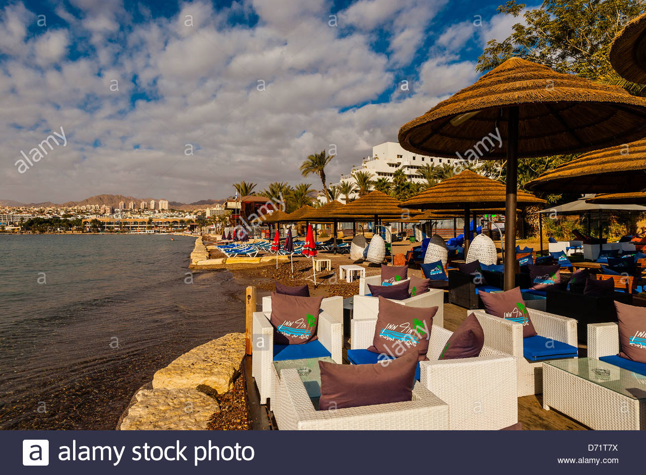 The resort city of Eilat, Gulf of Aqaba, Red Sea, Israel. - Stock Image