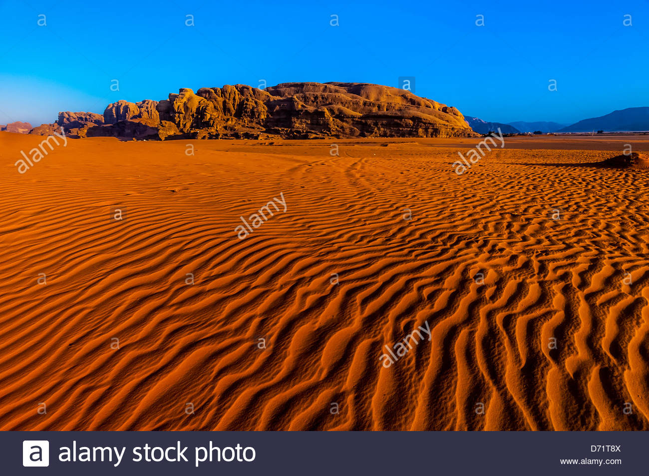Arabian Desert at Wadi Rum, Jordan. - Stock Image