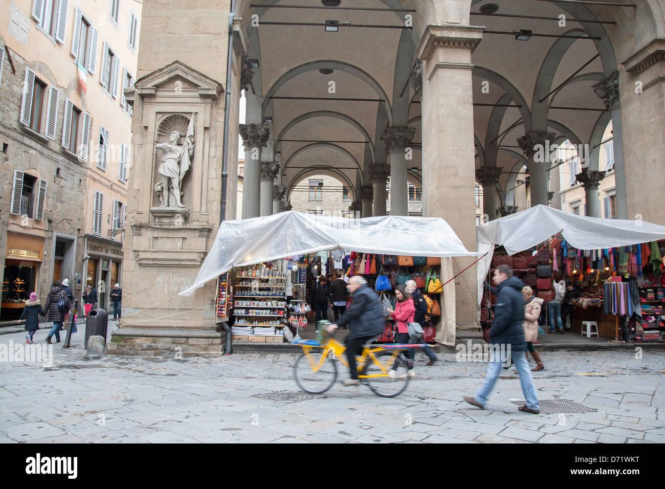 Mercato Nuovo - New Market, Florence; Italy - Stock Image