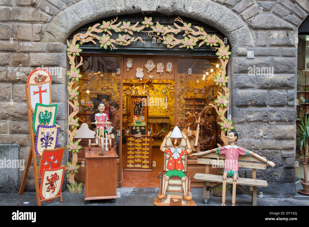 Bartolucci wooden toy shop in florence italy stock photo for Dream store firenze