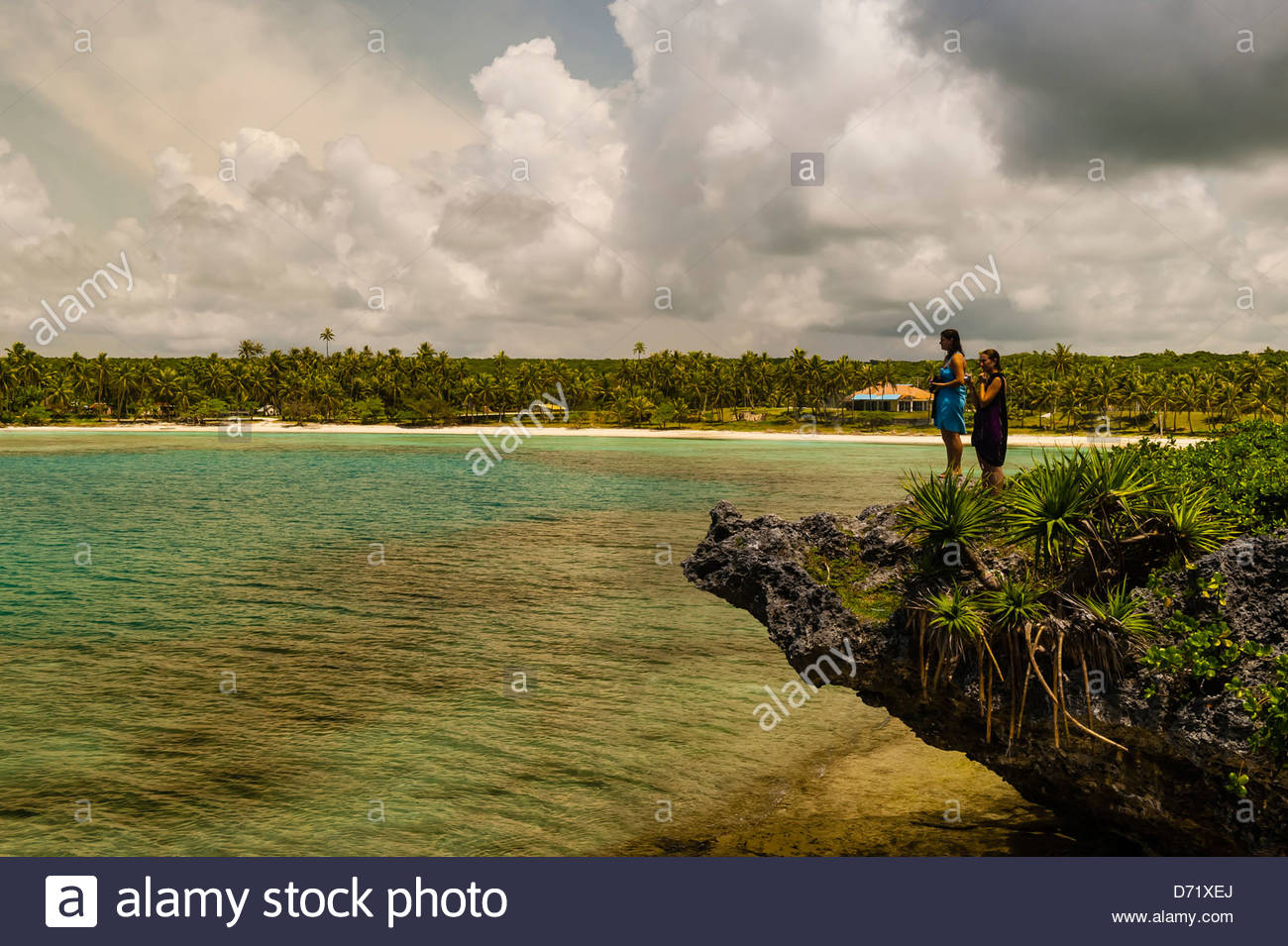 Mou Beach, Lifou (island), Loyalty Islands, New Caledonia - Stock Image