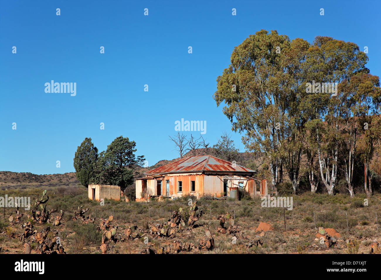 Abandoned rural farm house, South Africa Stock Photo