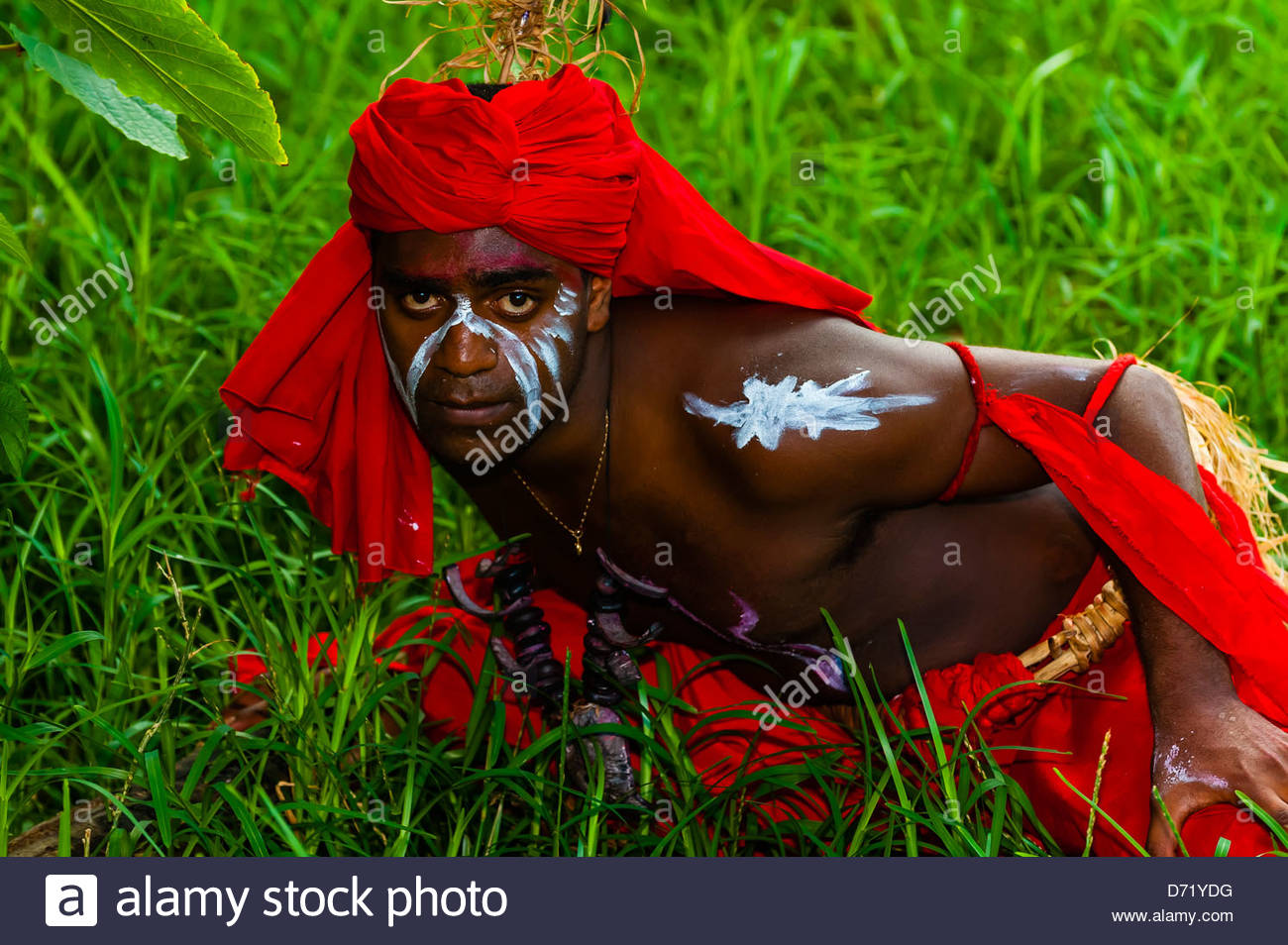 Wetr tribal dancers, Hnathalo, Lifou (island), Loyalty Islands, New Caledonia - Stock Image