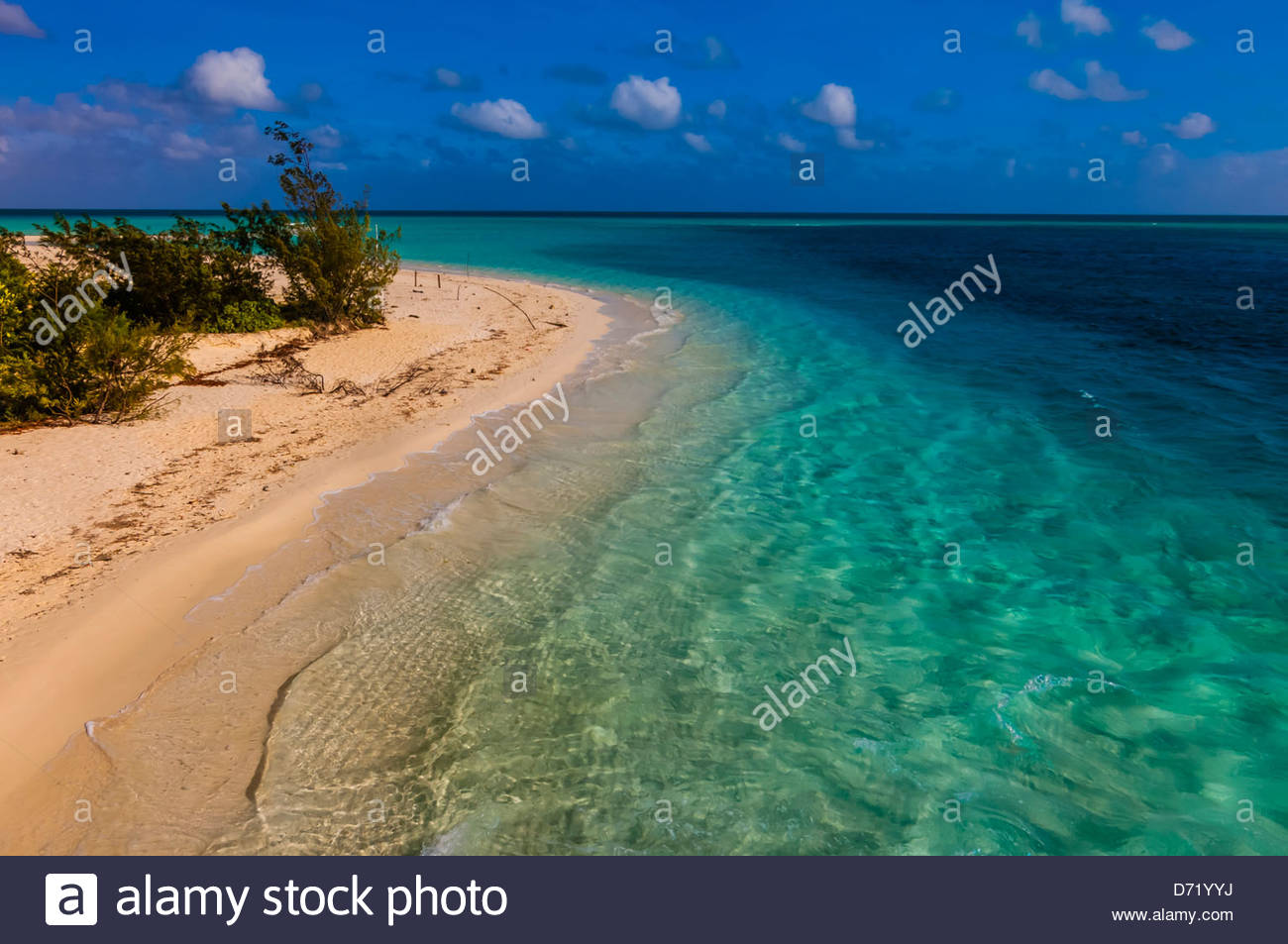 Deserted beach at Mouli, Island of Ouvea, Loyalty Islands, New Caledonia - Stock Image