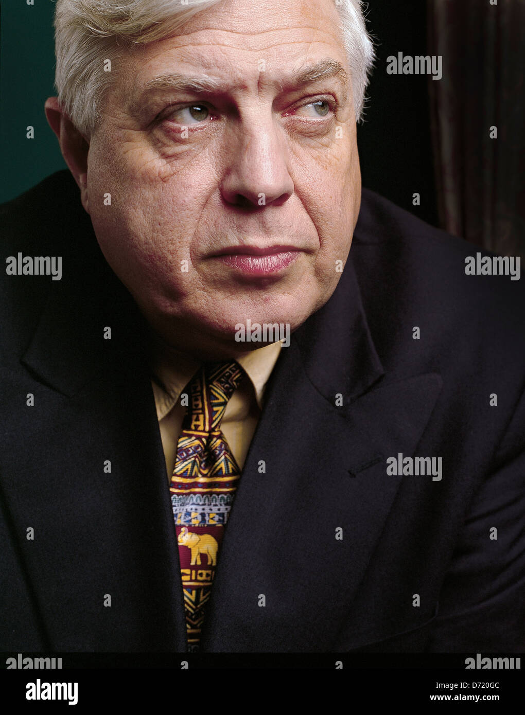 BBC World Affairs Correspondent John Simpson - Stock Image