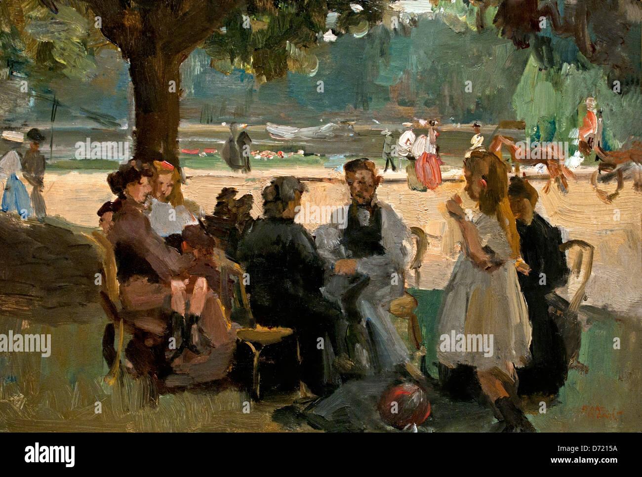 In the Bois de Boulogne near Paris 1906 Isaac Israels 1865 - 1934  Dutch Netherlands - Stock Image