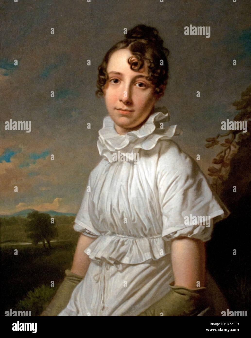 Portrait of Emma Jane Hodges 1810  Charles Howard Hodges 1767 - 1837 English - Stock Image
