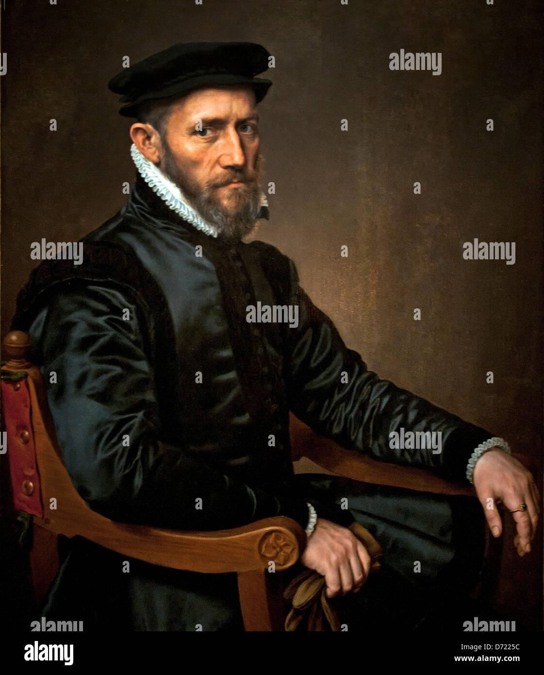 Portrait of Thomas Gresham 1560 Anthonis Mor 1519 - 1576 Belgium Belgian - Stock Image