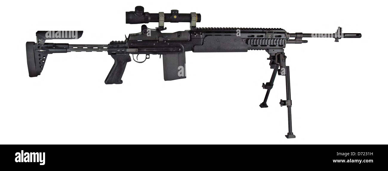 MK14, Mod 0 Enhanced Battle Rifle - Stock Image