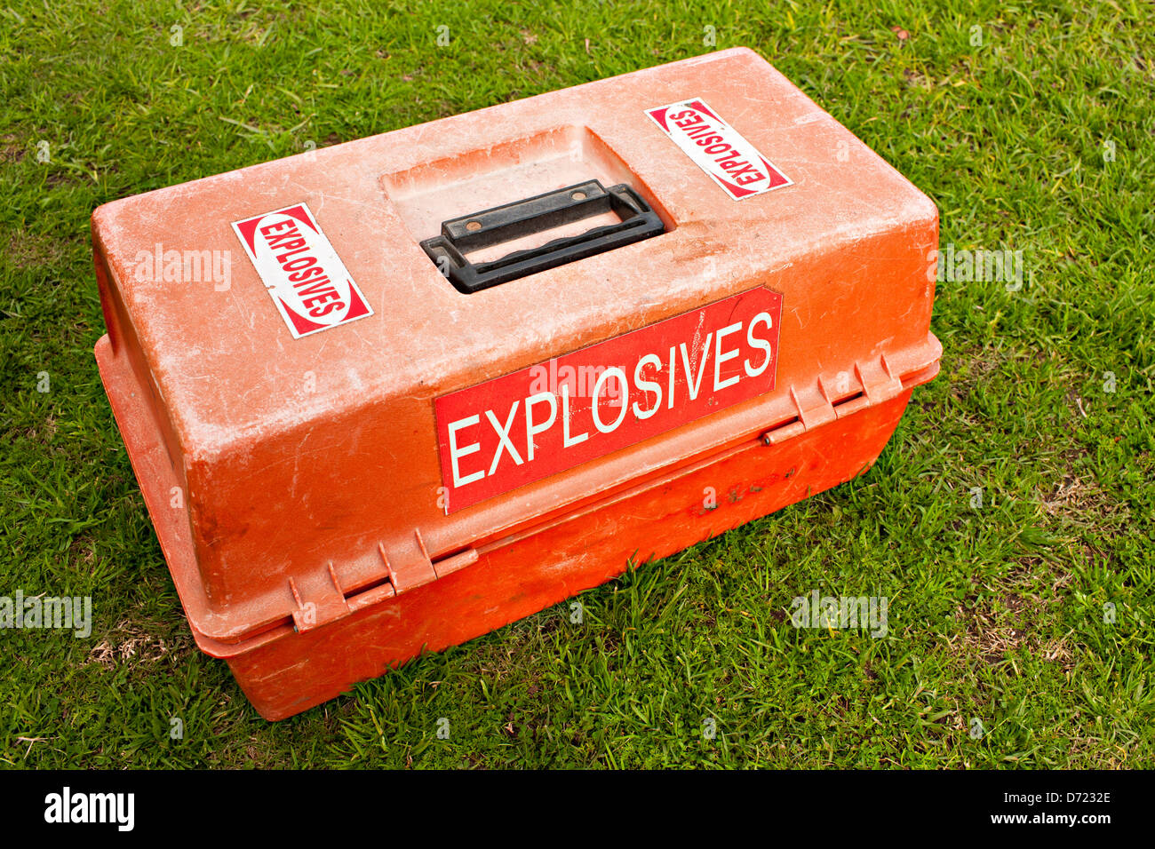 A box of explosives - Stock Image