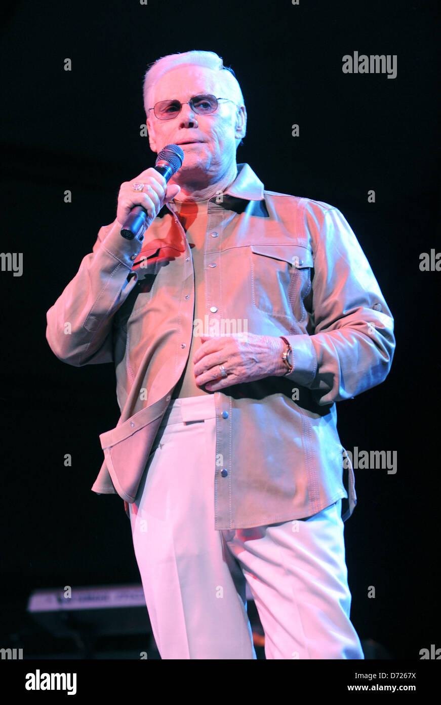 Nashville, Tennessee, U.S. April 26, 2013. Country superstar George Jones, known for hits including 'He Stopped - Stock Image