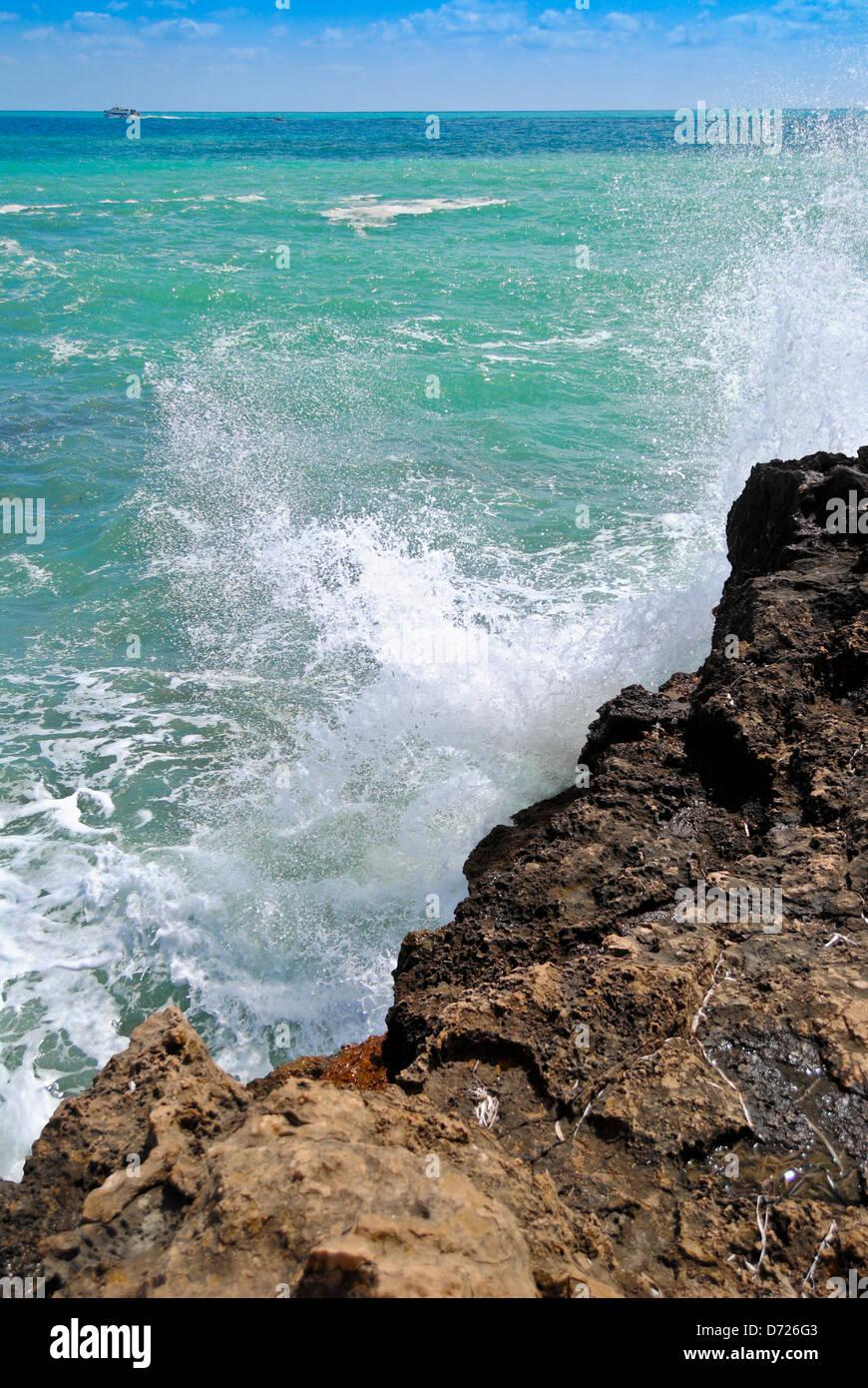 Mar Mediterráneo desde Javea-Alicante-España - Stock Image