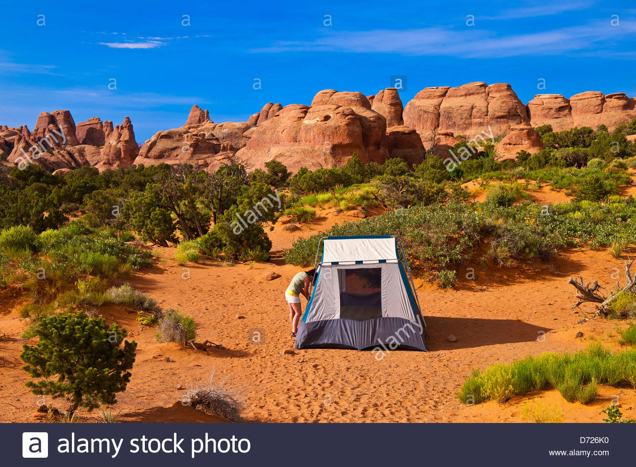 Camping at Devils Garden Campground in Arches National Park, near ...