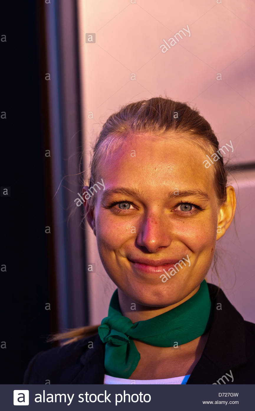 Young German woman, Dresden, Saxony, Germany - Stock Image