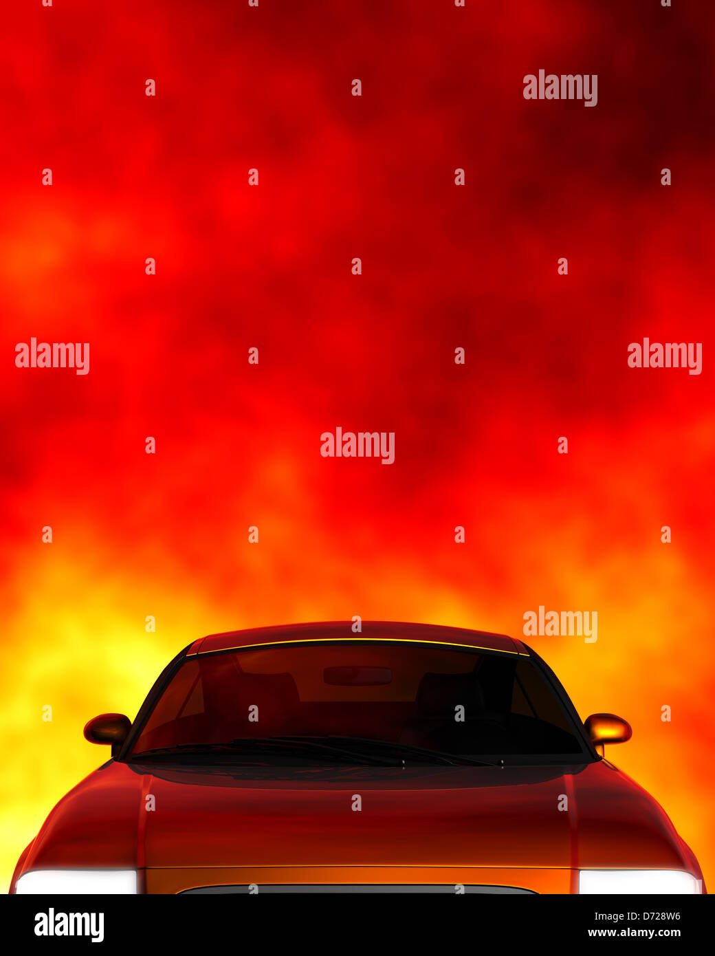 Car top with copyspace - Stock Image
